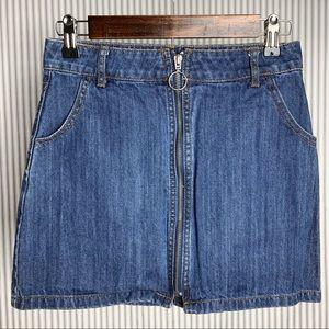 Forever 21 Denim Zipper Skirt